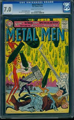 Metal Men 1 CGC 7.0 Silver Age Key DC Comic 1st Metal Men in title, L K