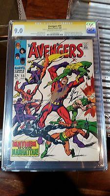 Avengers #55 CGC 9.0 SS,  Stan Lee & Roy Thomas. Ultron 1st app.