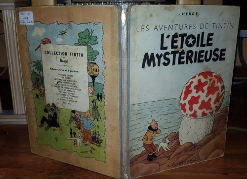 """Bd tintin """" l'étoile mystérieuse """" B1 de 1946"""