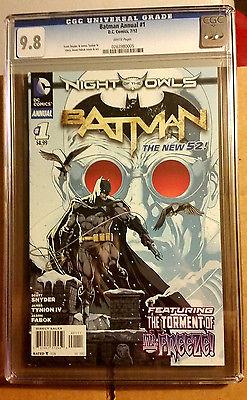 Batman Annual #1 new 52 1st Print Night of the Owls Tie In Rare CGC 9.8 NM+/M