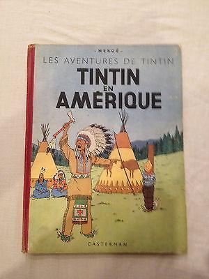 """ALBUM """"TINTIN EN AMERIQUE""""  1946  DOS B1  EO Couleur  TBE"""