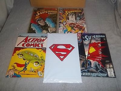 Vintage Superman Gallery Legacy Set Sealed, #1 1938, COA,s Autographed Grade 9.9