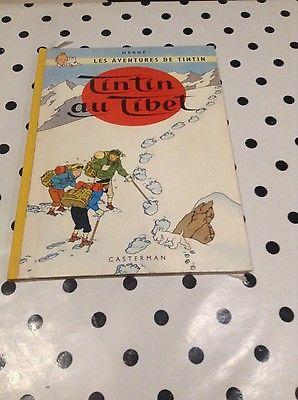BD originale numérotée et signée par HergéTintin au Tibet