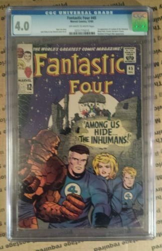 [1 DAY SALE] Fantastic Four #45 - CGC 4.0 - (Dec 1965, Marvel) [1 DAY SALE]
