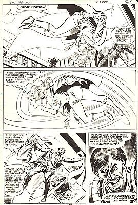 DON HECK SUPERGIRL Superman Family #194 Original Comic Art Bronze Age DC 1977