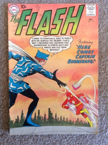 Vintage The Flash comic books 117, 119, 127, 138 all in good or better condition