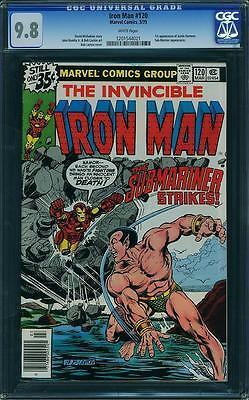 Iron Man #120 CGC 9.8 1979 1st Justin Hammer Robert Downey Jr. Avengers E8 cm