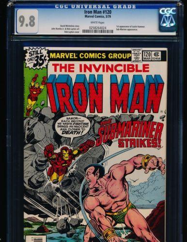 Iron Man # 120 - 1st Justin Hammer & Bob Layton cover/art CGC 9.8 WHITE Pgs.