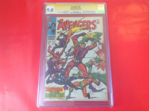 Avengers #55 Signed By Stan Lee - CGC 9.0 First Ultron -  Few In Existence