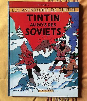 Tintin T1-Tintin au pays des Soviets-B2-TL-EO couleurs (1992)-dos bleu-Neuf