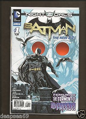 New 52 Batman Annual #1 Mr Freeze Night of the Owls NM