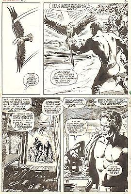 GENE COLAN & Joe Sinnott CAPTAIN AMERICA #118 Original Marvel Comic Art 1969