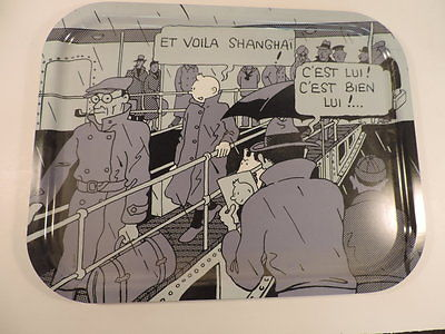 Herge Tintin Plateau Axis Lotus Bleu Shanghai annees 90