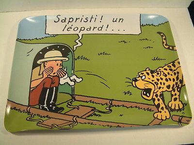 Herge Tintin Plateau Moulinsart Congo Leopard annees 2000