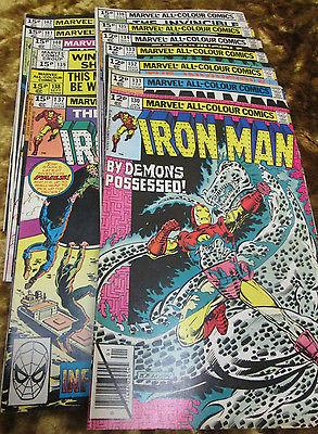 Mavel Comic -  iron man  # 130 131 132 133 134 135 136 137 138 139 140 141 142