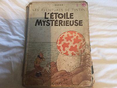 bd Tintin L'étoile mystérieuse B1 de 1946 hergé