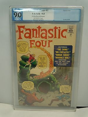 FANTASTIC FOUR 4 #1 1966 PGX GRADED 9.0  Golden Record Reprint Vintage Marvel