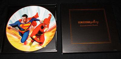 SUPERMAN VS FLASH RACE DC DIRECT GALLERY PLATE #1042/1200 ALEX ROSS ART 199