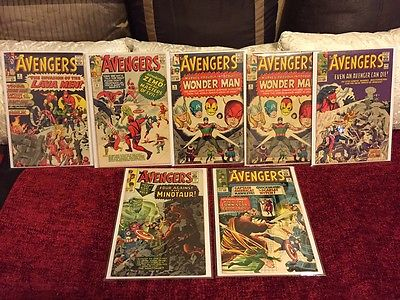 Iron Man #4 Avengers # 9 Tales of Suspense #50 Captain America #100, X-Men 7 CGC