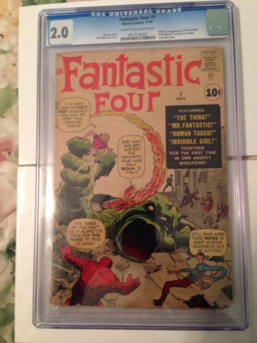 Fantastic Four #1 CGC 2.0. First Appearance Of The Fantastic Four