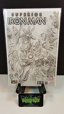 SUPERIOR IRON MAN #1 ALEX ROSS SKETCH VARIANT 1:300 NEAR MINT