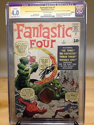Fantastic Four #1 CGC SS 4.0 Signature Series - Signed by Stan Lee