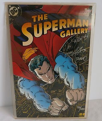 The Superman Gallery No.1 1993 Signed Limited Edition 6 Signatures w/ COA