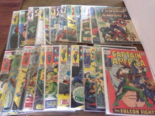 Huge Captain America Lot 100-103 105-109 113-115 118 120 121 124 127 130 131 136