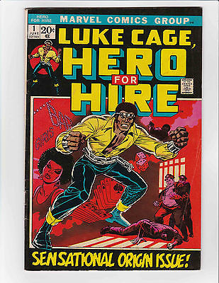 Luke Cage, Hero for Hire #1 (Marvel) FN - FN+ High Res Scans KEY ISSUE