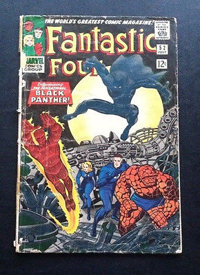 Fantastic Four #52 (Vol. 1, 1961) First App. of The Black Panther