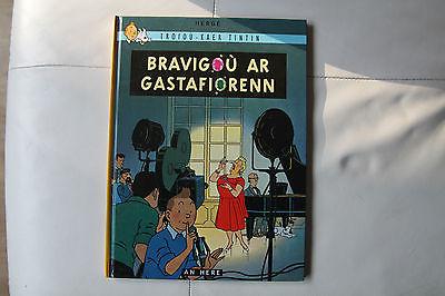 tintin en breton les bijoux de la Castafiore 1 edition en breton rare