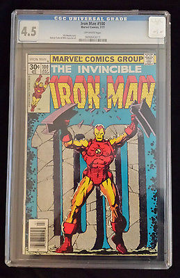 Iron Man 100 CGC 4.5 MARVEL CLASSIC IRON MAN GRADED FREE GIFT