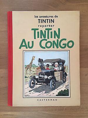 """Hergé Tintin au Congo Edition dite """"Reporter"""" 1937 Tout Proche de l'Etat NEUF."""