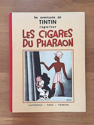 """Hergé Tintin Les Cigares du Pharaon Edition dite """"Reporter"""" 1938 Etat NEUF."""