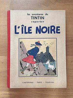 Hergé Tintin L'Ile Noire Edition Originale 1938 Etat tout Proche du NEUF.