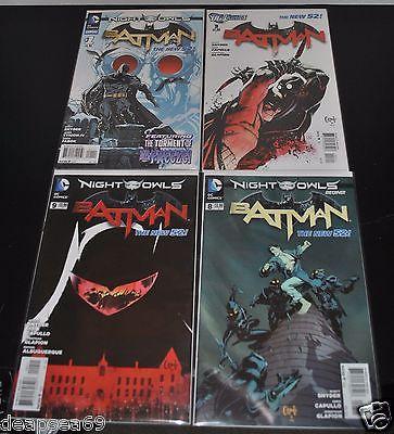 Batman New 52 #3 #8 #9 Annual #1 First Print Night of the Owls Talon Mr Freeze