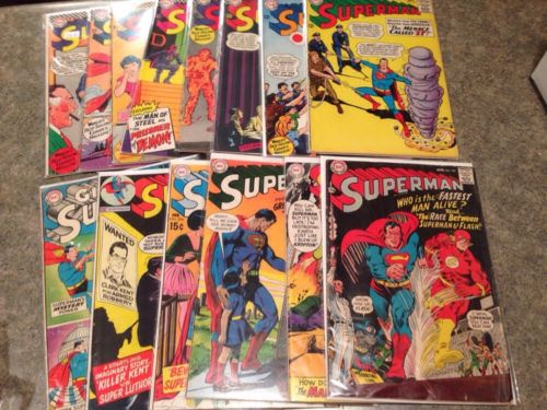 Superman Lot 177 184 186 190 191 192 194 198 199 205 215 224 230 Annual 7 Vg+
