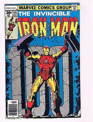 Iron Man # 100 NM- Marvel Bronze Age Comic Book Avengers Hulk Thor Wasp AD3
