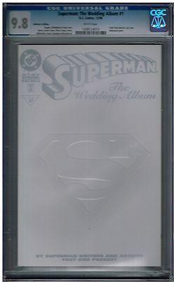 CGC 9.8 SUPERMAN THE WEDDING ALBUM #1 CLARK KENT LOIS LANE WHITE VARIANT
