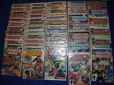 Power Man Iron Fist Luke Cage Lot of (52) 30-122  MARVEL  Comics