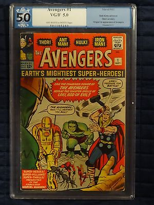 MARVEL Silver 1963 AVENGERS  # 1 comic PGX like CGC 5.0 Stan Lee Jack Kirby art