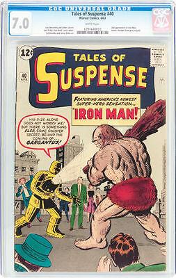 Tales of Suspense #40 CGC 7.0 Marvel 1963 2nd Iron Man Avengers WP E12 120 cm