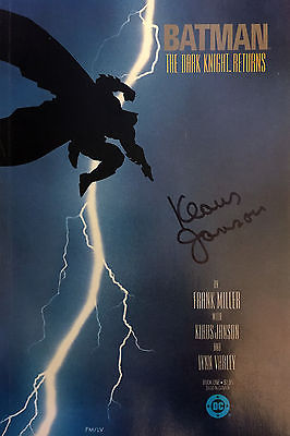 The Dark Knight Returns **autographed by Klaus Janson TPB 1986 BATMAN