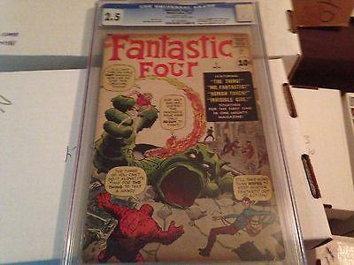 Fantastic Four #1 (Nov 1961, Marvel), CGC 2.5, 1st Appearance Fantastic Four