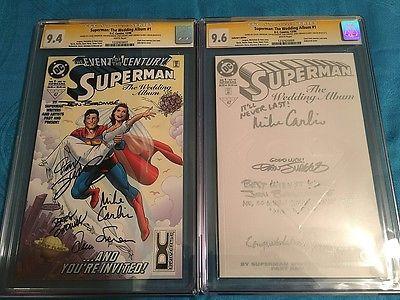 Superman: The Wedding Album #1 Coll & Reg set - DC - CGC SS 9.6 9.4 - 5x Signed