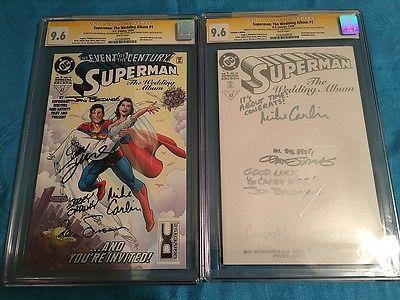 Superman: The Wedding Album #1 Coll & Reg set - DC - CGC SS both 9.6 - 5x Signed