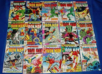 IRON MAN LOT OF 15- HIGH GRADE TO NM/MT 9.8- # 116 -137- MARVEL 1983- $.99 BID