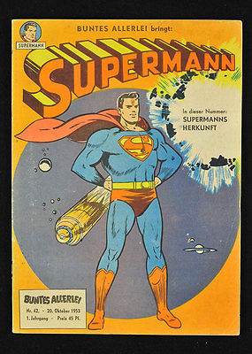 Buntes Allerlei - 1953 Nr. 42 Erstes Superman Heft in Farbe - Original