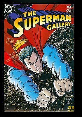 Superman Gallery #1 -- SIGNED by STERANKO Perez ADAMS Ordway SWAN Jurgens w/ COA