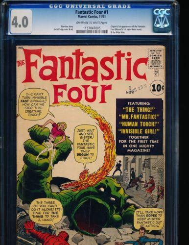 Fantastic Four # 1 - origin & 1st appearance CGC 4.0 OW/WHITE Pgs.